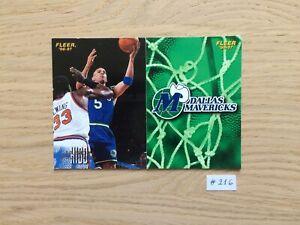 NBA FLEER #216 Base Dallas Mavericks 1996 1997