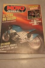MOTO JOURNAL N°766 ★ KAWASAKI KLR 650 ★ DAKAR, SALON PARIS, GODIER-GENOUD 1986