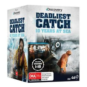 DEADLIEST CATCH : 10 Years at Sea - The Complete Seasons 1-10 : NEW DVD