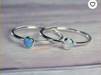 Natural Opal Ring 925 Sterling Silver Ring Jewelry Handmade Ring All Size c-01