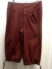 PIrate Renaissance Ren Faire Pants Breeches Knickers Button Front Black Unisex