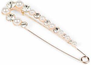 Damen XXL Schmucknadel Perlen und Strass, für Ponchos, Schals, Sicherheitsnadel
