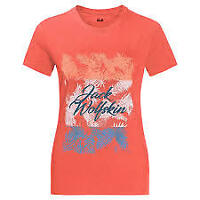 Jack Wolfskin Womens/ladies Royal Palm Tee Top T-Shirt Hot Coral UK16 (XL)