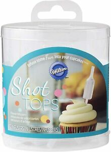 Wilton Squeezable Shot Tops Bottle Cupcake Infusers Infusions (Pack of 12)