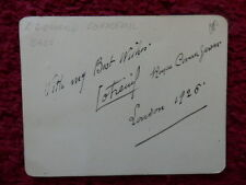 EDOUARD COTREUIL FRENCH OPERA SINGER AUTOGRAPH 1925