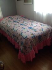 Holly Hobbie Bedspread With Pink Ruffle Twin Vintage