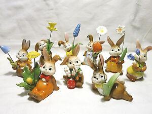 Goebel Hase Osterhase mit Blume  Blüte Tulpe Osterglocke Glockenblume