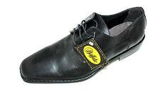 BUFFALO schwarze Business Halb Schuhe Herren 45 UK 10,5 Schnürer Leder elegant