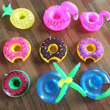 1PC Swan/Donut Inflatable Party Swimming Pool Toy Beverage Drink Beer Cup Holder