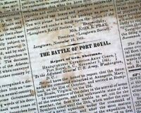 CHARLESTON SC South Carolina CONFEDERATE Civil War 1861 Old Southern Newspaper