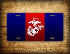 USMC License Plate EGA Dress Blues Emblem Marines Auto Tag Eagle Globe & Anchor