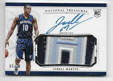 2015-16 National Treasures Jarell Martin RC Auto/3-Color Nameplate Patch/25