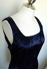 Juniors All That Jazz blue black satin velvet paisley dress size 9/10