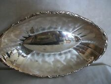 Vintage Silver-plated Oval Serving Bowl (#0648)