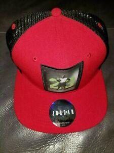 Nike Air Jordan 23 Poster Jumpman Mesh Snapback Hat Red 658381657