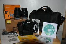 Nikon D3200 24.2mp digital slr camera full kit, new grip, 3 day aucton BEAUTIFUL