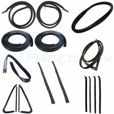 78-80 Chevy Truck Complete Kit Door Gaskets, Glass Seals w/ Chrome Trim Groove