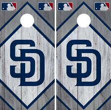 San Diego Padres Cornhole Wrap MLB Wood Game Board Skin Set Vinyl Decal CO524