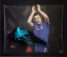 John Terry Chelsea firmato incorniciato NIKE FOOTBALL BOOT vedere Real VIDEO PROOF & COA