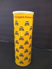RARE vintage PRINGLES potato chip yellow Can Ripple extra crunchy advertisement