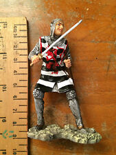 9cm Hand Painted Resin Crusader Figure Soldier Knight Templar Christian History