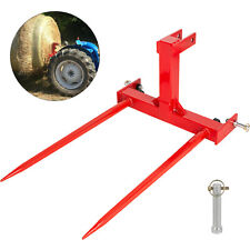 """Cat 1 3 Point Attachment w/2 39"""" Hay Bale Spears 3000 lb Capacity Tractor"""