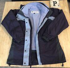 Columbia Core Women's Size Medium Interchange Ski Winter Jacket Purple Warm Hood
