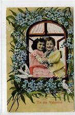 (Ga9953-480) Nice Early Valentine Card 1909 VG