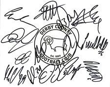 DERBY F.C SIGNED 10x8 CREST PHOTOx14+COA *BENT*ROWETT*HUDDLESTONE*MARTIN*