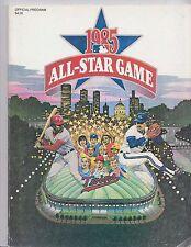 1985 MLB All Star Game Baseball Program Minnesota Twins Metrodome Unscored