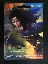 Wonder Woman 2017 Movie Mastercard Vanilla Collectible Card Unactivated