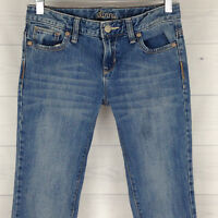 Old Navy SKINNY Girl's Youth Size 12 Blue Medium Wash Distressed Denim Jeans
