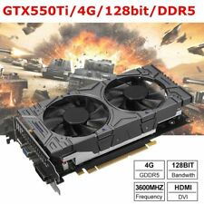 NVIDIA GeForce GTX 550 Ti 4GB GDDR5 Gaming-Grafik Grafikkarte HDMI/VGA/DVI GT