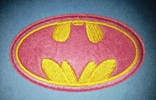 Batman Collectable Iron On Jacket Hoodie Hat Backpack Patch Crest Pink