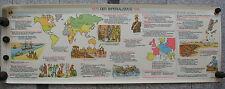 Wandbild Geschichtsfries Imperialismus 139x50 vintage imperialism wall chart ~65