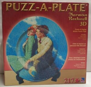 Puzz-A-Plate 3D Normal Rockwell On Top of the World Jigsaw 217pce MIB 31.11cm