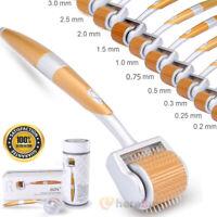 100% Authentic Titanium Micro Needle Derma Roller Meso Anti Aging Acne Scar