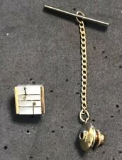 Tone Tie Tac Pin (#011) Vintage 1940's Music Notes Gold