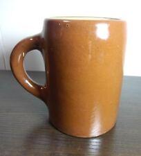 Antique Weller Art Pottery Coffee Mug Brown Tankard Early
