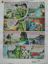JACK KIRBY Joe Simon CAPTAIN AMERICA #8 pg 23 HAND COLORED ART Theakston 1989 Comic Art