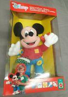 Disney Learn to Dress Mickey / Micky Plüsch-Figur Vintage 1992 Ovp Mattel 7653