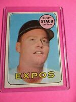 1969 Topps #230 Rusty Staub Montreal Expos ExMt (no creases)