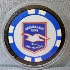 1 BRIGHTON & HOVE ALBION, SEAGULLS CASINO POKER CHIP CARD PROTECTOR/GUARD - NEW