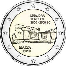 Malta 2 Euro 2018 Mnajdra Tempel bankfrische Gedenkmünze Prähistorische Stätten