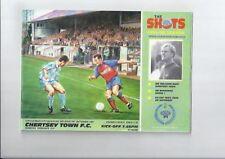 Aldershot Football Non-League Fixture Programmes (1990s)