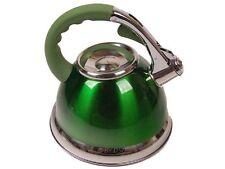 Prima Metallic Green Cordless 3.5L Stainless Steel Whistling Kettle