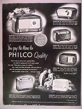 Philco Radio PRINT AD - 1948 ~~ model 200, 230, 250, 360, 602