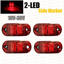 2x Truck Car Lorry Van Trailer Lamp Red LED Side Marker Light Indicator 12V 24V