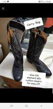 Lucchese Custom Boots Elephant Hide skin custom zippers  great soles