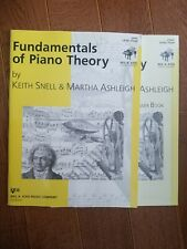 Fundamentals of piano theory book and answer set- level four by keith snell&...
